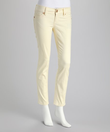 Pale Yellow Skinny Pants