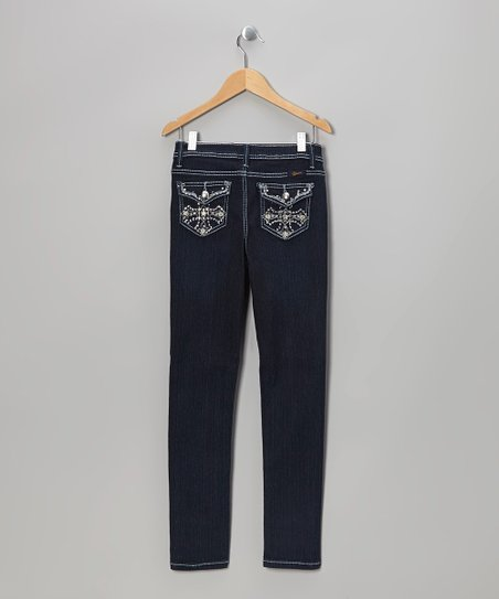 Dark Wash Cross Bootcut Jeans