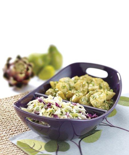 Purple 14'' Divided Dish