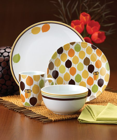 Little Hoot 16-Piece Dinnerware Set