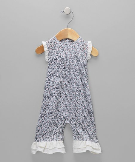 Navy Floral Romper - Infant