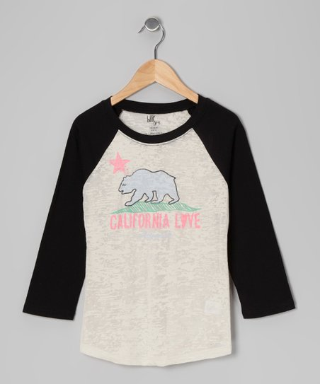 Black Silly Things Raglan Tee