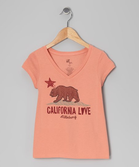 Plush Blush Born in Cali V-Neck Tee