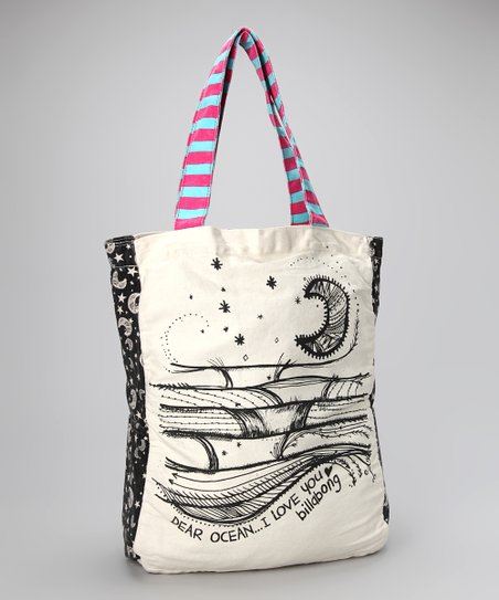 Off-Black Tote Along Tote