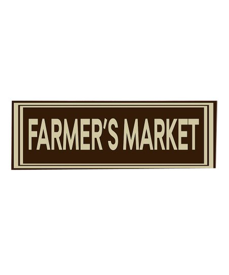 Brown & Cream Farmers Market Wall Art