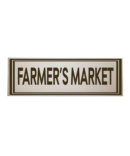 Cream & Brown Farmers Market Wall Art