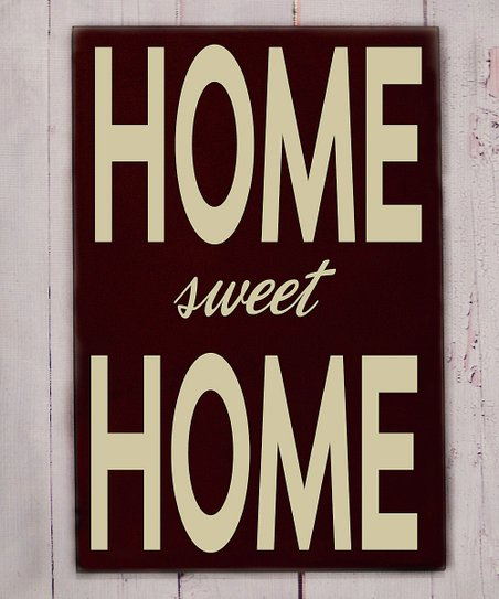 Brown &amp; Cream &#039;Home Sweet Home&#039; Wall Art