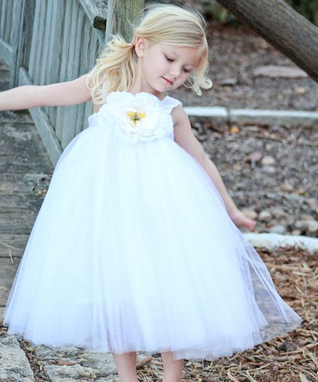 White Ella Princess Dress - Toddler & Girls