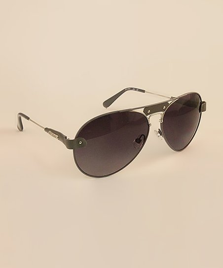 Gray Pilot Sunglasses