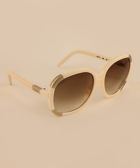Ivory Gold Stripe Sunglasses