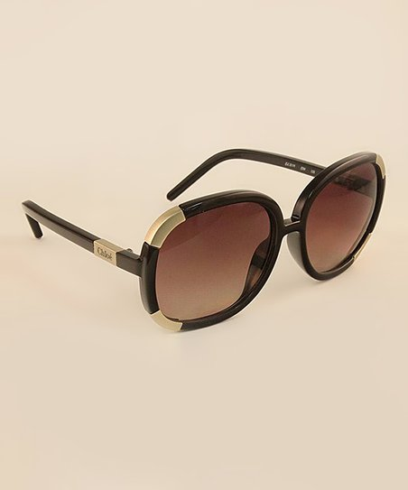 Chocolate Gold Stripe Sunglasses