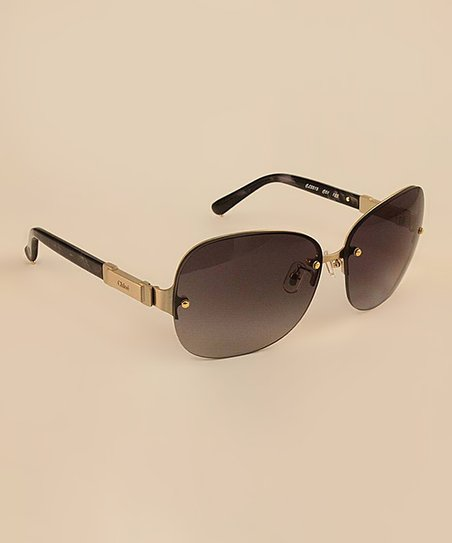 Black Horn Half Frame Sunglasses