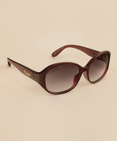 Burgundy 'Chloé' Sunglasses