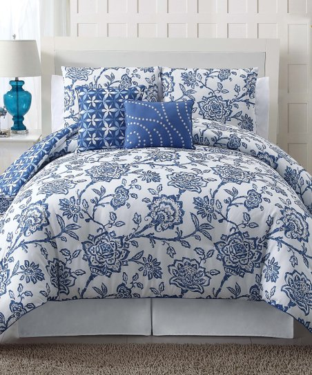 Blue Jordin Comforter Set