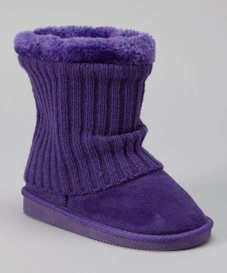 Purple Francis Boot