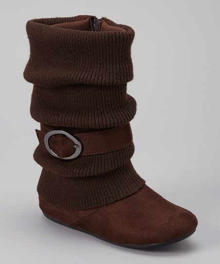 Brown Daysi Fold-Over Boot