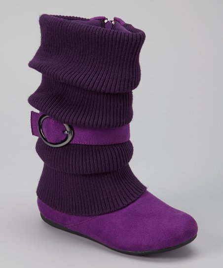 Purple Daysi Fold-Over Boot