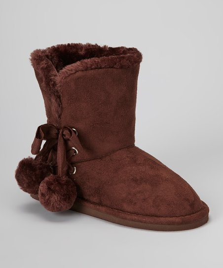 Brown Betty Pom-Pom Boot
