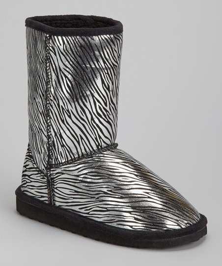 Black Zebra Betty Boot