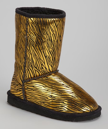 Gold Zebra Betty Boot