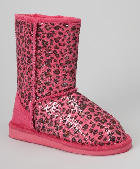 Fuchsia Leopard Sequin Betty Boot