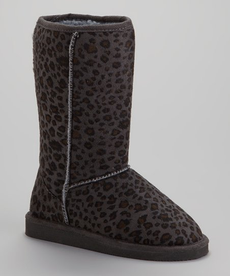Gray Leopard Betty Boot