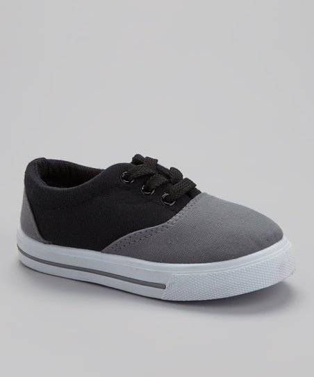 Gray & Black Lace-Up Sneaker