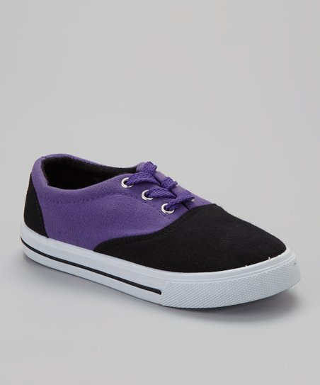 Black & Purple Lace-Up Sneaker
