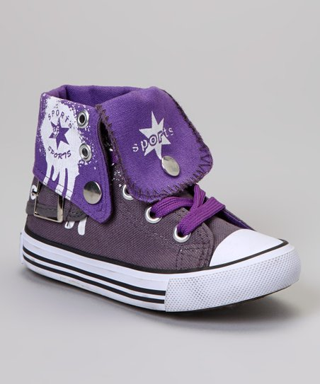 Gray & Purple Hi-Top Sneaker