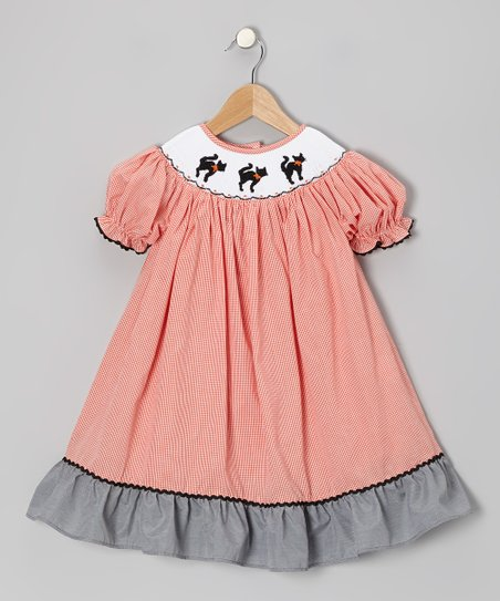 Black & Orange	Cat Bishop Dress – Infant, Toddler & Girls