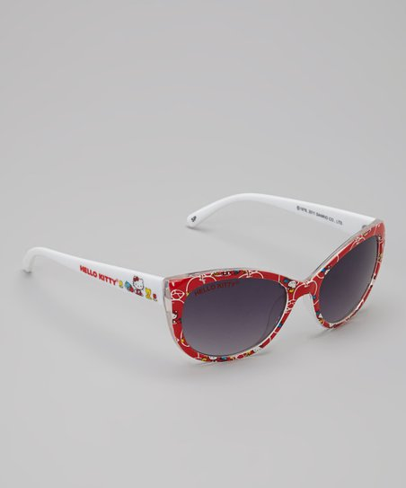Red Hello Kitty Oversize Sunglasses