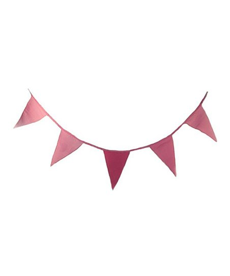 Pink Washed Linen Flag Bunting