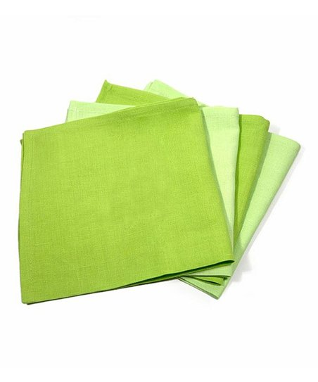 Green Washed Linen Napkin Set