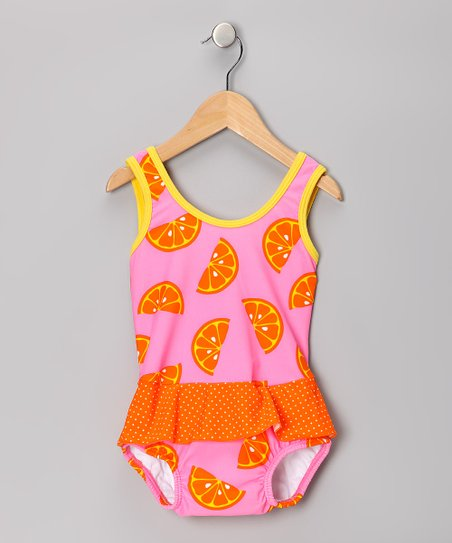 Pink Oranges Skirted One-Piece - Infant & Toddler