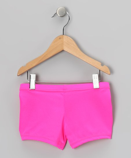 Neon Pink Active Shorts - Toddler & Girls
