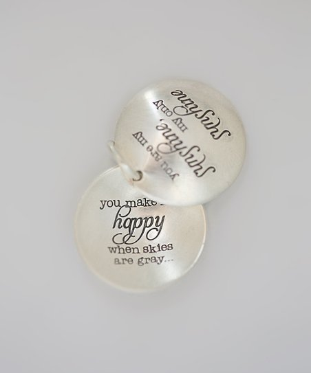 Sterling Silver 'You Are My Sunshine' Locket