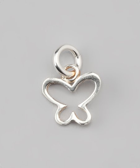 Sterling Silver Butterfly Outline Charm