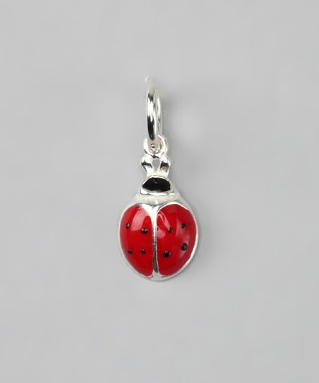 Red &amp; Sterling Silver Ladybug Charm