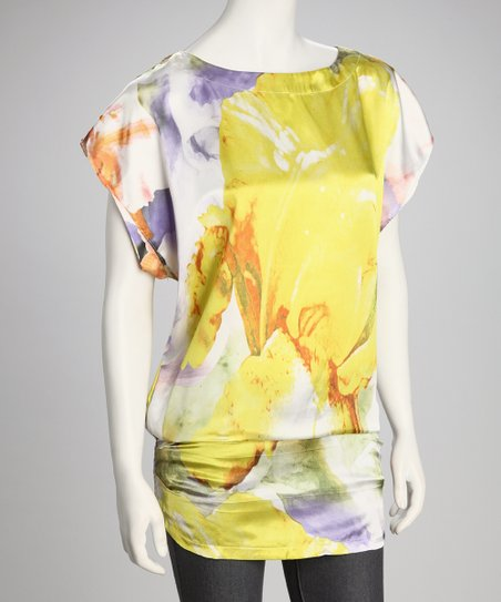 Yellow & Lilac Dolman Top