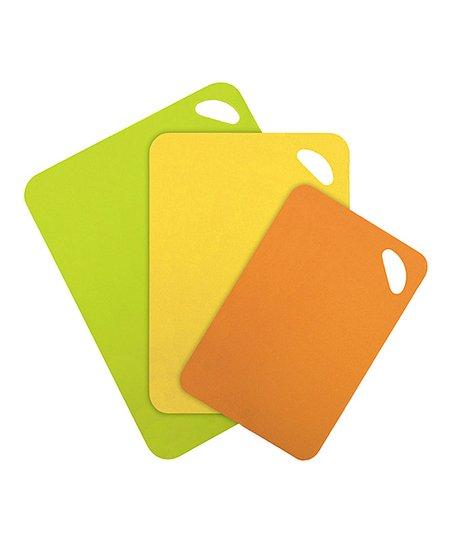 Orange & Yellow Grip Back Three-Piece Cutting Mat Set
