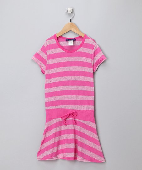 Pink Stripe Drop-Waist Tunic - Girls