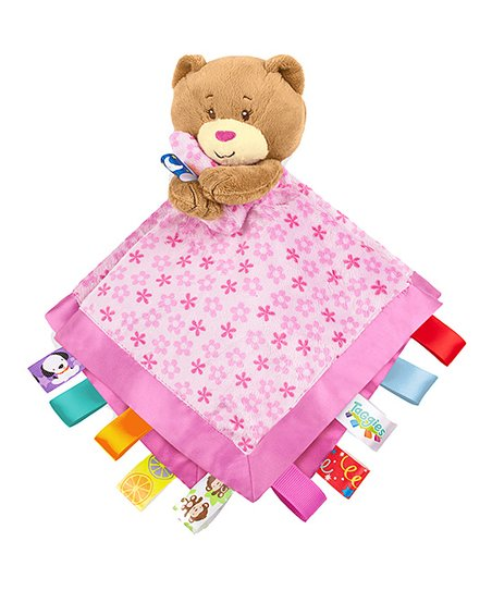Pink Bear Soothe Me Security Blanket