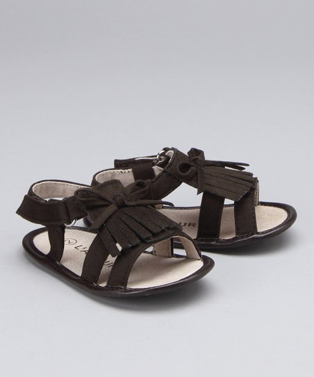 Brown Fringe Bow Sandal