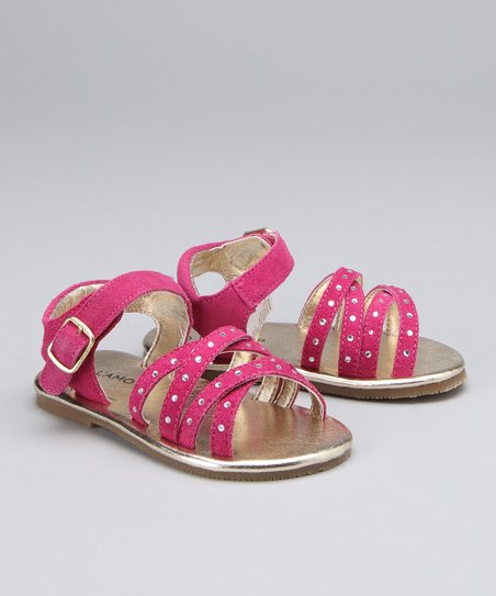 Fuchsia Rhinestone Sandal