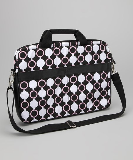Pink Mod Circles Kailo Chic 15.6'' Laptop Briefcase