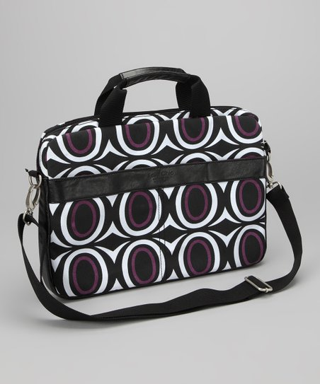 Purple Ovals Kailo Chic 14'' Laptop Briefcase