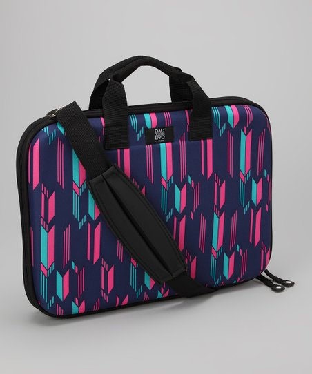 Purple & Pink Chevron Chloe Dao 15.6'' Laptop Briefcase