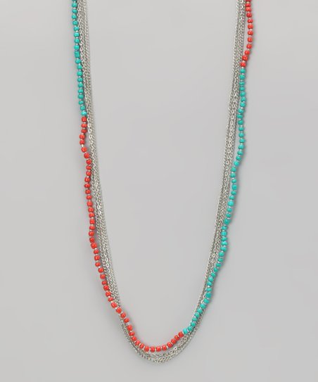 Coral & Silver Necklace