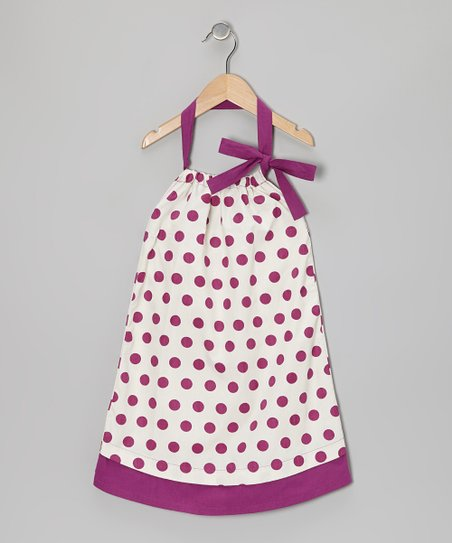 Hollycock Polka Dot Halter Swing Dress - Toddler & Girls