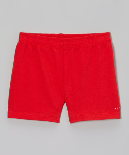 Red Rhinestone Undershorts - Toddler & Girls